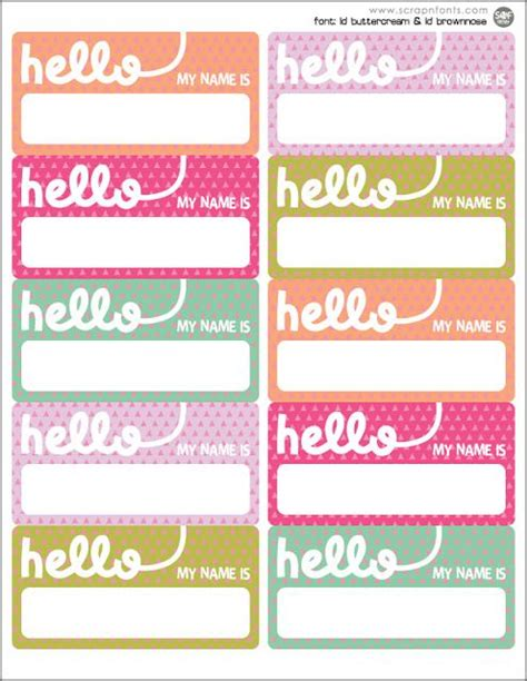 printable stick on name tags pinterest the world s catalog of ideas
