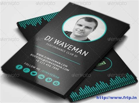 dj business card template 25 best dj business cards print templates frip in
