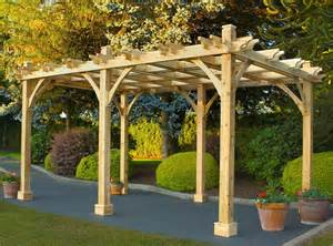 Free Standing Patio Awnings Outdoor Living Today 10x16 Cedar Breeze Pergola Bz1610