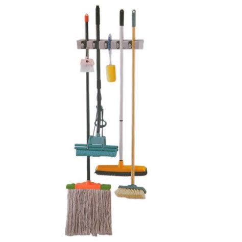 Pel Lantai Magic Mop magic broom and mop holder gantungan sapu dan kain pel gray jakartanotebook