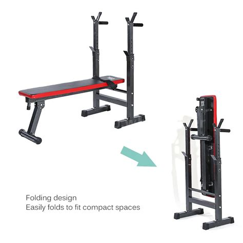 folding weight training bench tomshoo adjustable folding weight lifting flat incline
