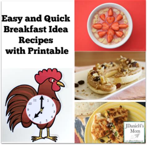 quick printable recipes easy and quick breakfast idea recipes with printable