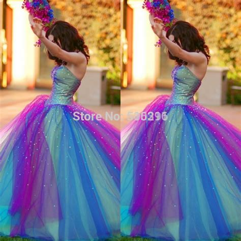 most popular prom colors for 2015 new arrival rainbow quinceanera dress style sweetheart