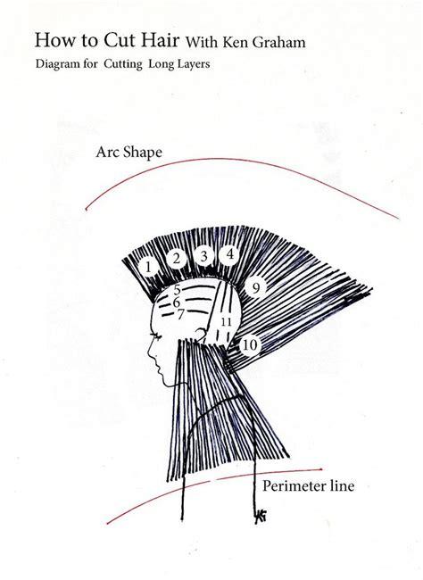 diagram on cutting hair how to cut long layers diagram 1 vanity speaks pinterest