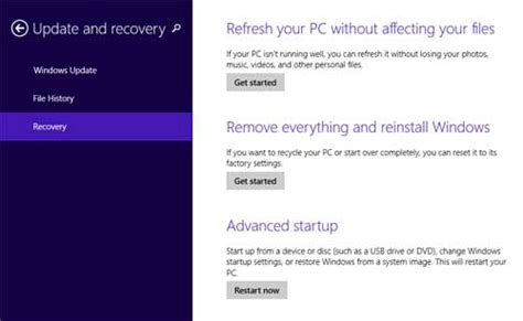 windows 8 1 reset password tablet 2 options to reset windows 8 tablet to factory settings