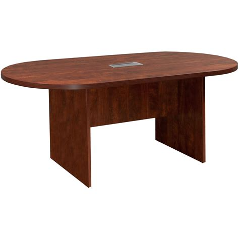 6 conference table everyday 6 laminate racetrack conference table with