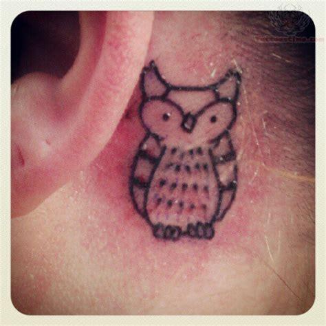 owl tattoo ear owl tattoo behind ear
