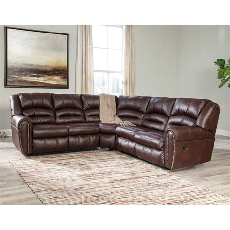 ashley leather sectional reviews ashley manzanola 2 piece faux leather reclining sectional