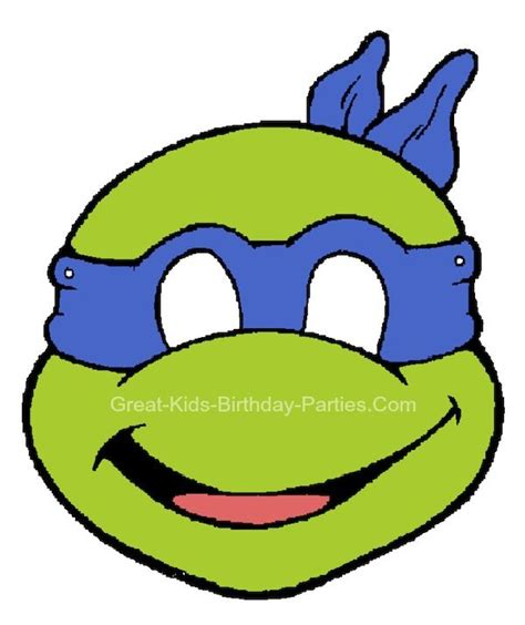printable leonardo mask free printable kids halloween masks teenage mutant
