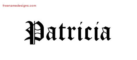 patricia tattoo designs archives free name designs