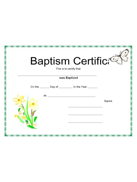 baptism certificate template word baptism certificate 4 free templates in pdf word excel