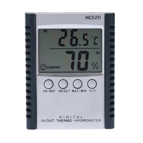 Thermometer Hygrometer Manual lcd digital indoor outdoor thermometer hygrometer