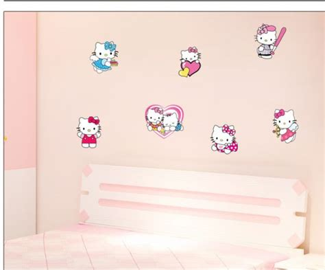 hello kitty removable wallpaper hello kitty wall stickers removable for living room