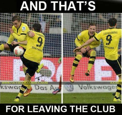 hahaha lewandowski talking to gotze football memes