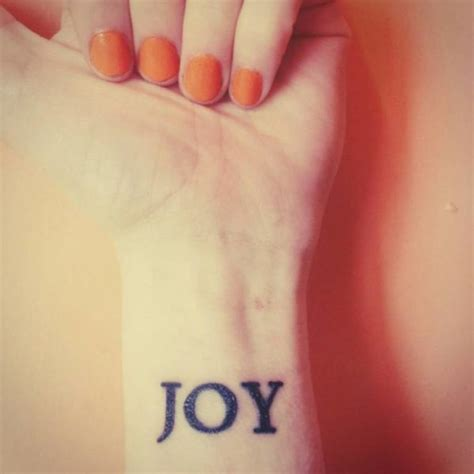joy tattoo on wrist 12 joy wrist tattoos