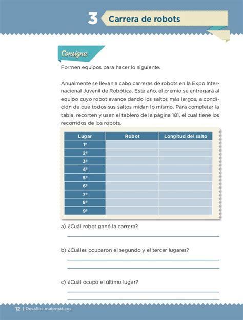 desafios 3 contestado libro de matemticas 6 grado 2016 contestado libro de