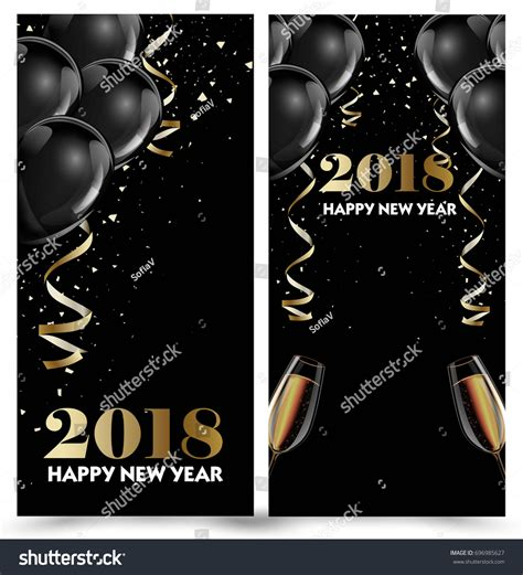 2018 new years cards templates new year card 2018 template happy new year 2018 pictures