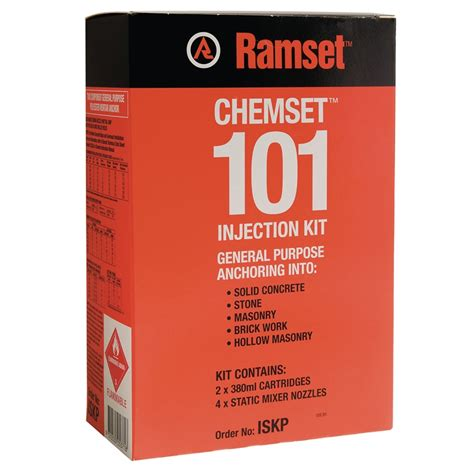 Angkur Ramset ramset chemset 101 injection kit bunnings warehouse