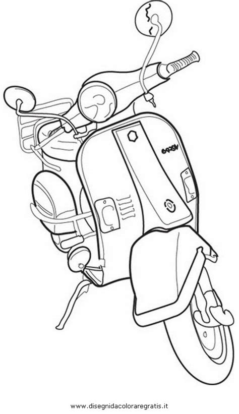 disegno vespa categoria mezzitrasporto da colorare