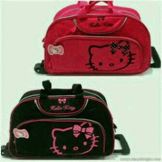 Dompet Tas Tas Travel Slempang 3399 Hello Pink galys shop tas trolly motif hello sold out