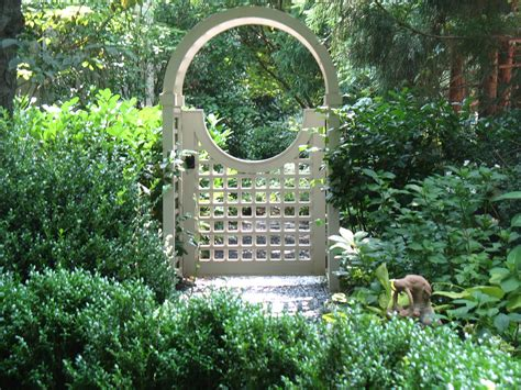 Garden Arbor With Door Pin By I This On Garden And Flowers