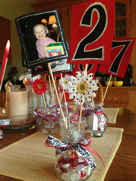 Handmade Centerpiece Ideas - diy graduation centerpieces on