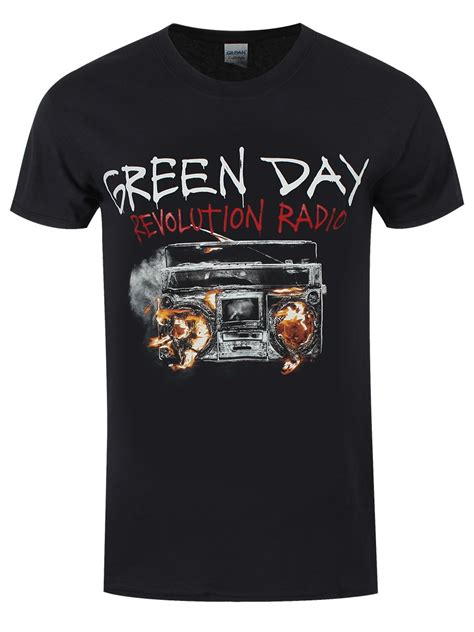 T Shirts Green Day Gdy13 green day revolution radio cover s black t shirt buy
