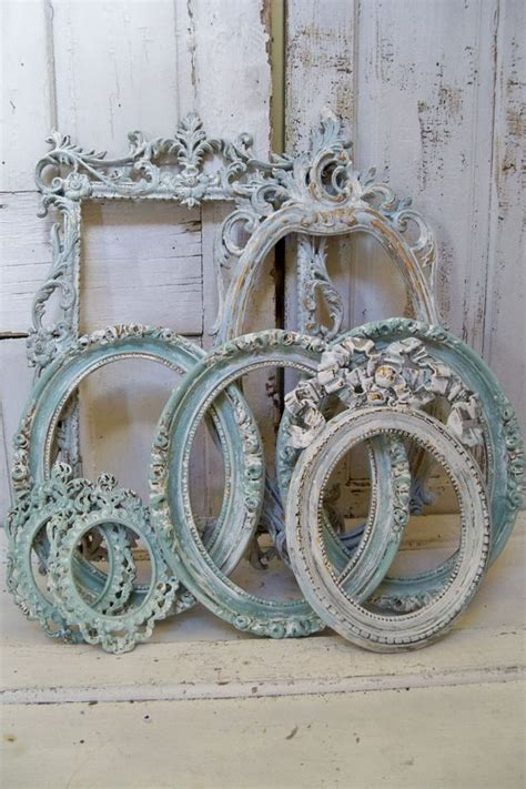blue shabby chic blue ornate large frame grouping shabby chic by