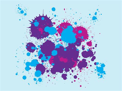 15 paint splatter vector transparent background images pink paint splatter rainbow paint