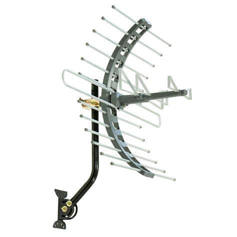 ge pro outdoor attic mount tv antenna 70 mile range 29884 the home depot