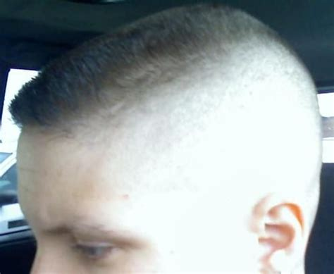 her flat top haircut whitewalled high n tight even shorter than her usual cut