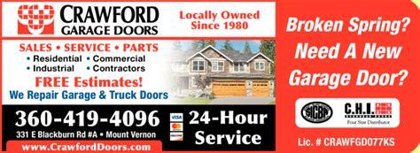 crawford garage doors  mount vernon wa skagit