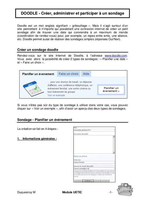 doodle questionnaire en ligne doodle sondage