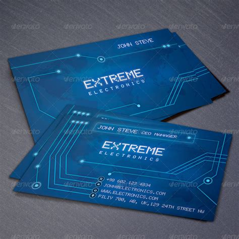 electronic card electronics business card by oksrider graphicriver