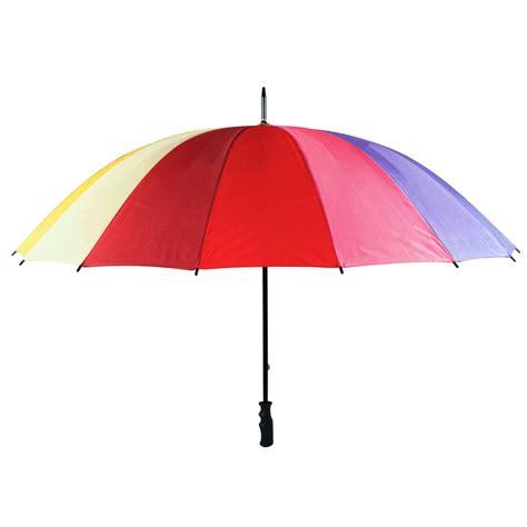 large umbrella large rainbow coloured golf umbrella