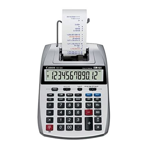 Calculator Casio Dh 12 canon p27 dh 12 digit mini desktop printing calculator