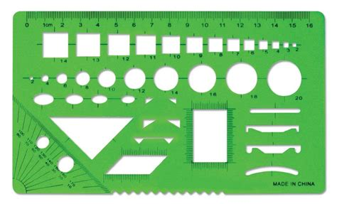 Drawing Stencil Ruler plastic stencil with drawing template ruler ruler stencil