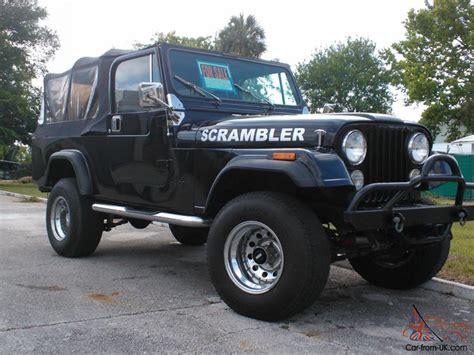 scrambler jeep years 1981 jeep scrambler cj 8