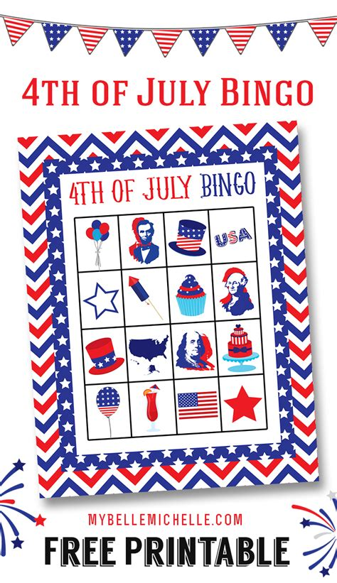 printable 4th of july games my belle michelle 187 fun 4th of july bingo game printable