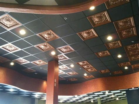 Cool Drop Ceiling Decorative Ceiling Tiles Changing The Flat Surface Into