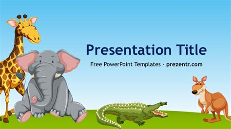 free animals powerpoint template prezentr ppt templates