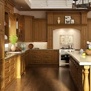 Red Oak Cabinets Kitchen by Op15 S02 Traditional Customized Red Oak Wood Kitchen Cabinet