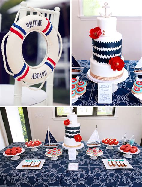 Nautical Baby Shower Decorations by Kara S Ideas Nautical Baby Shower Planning