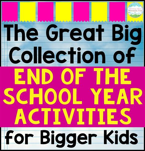 End Of The Year Activities For Upper Elementary Teaching