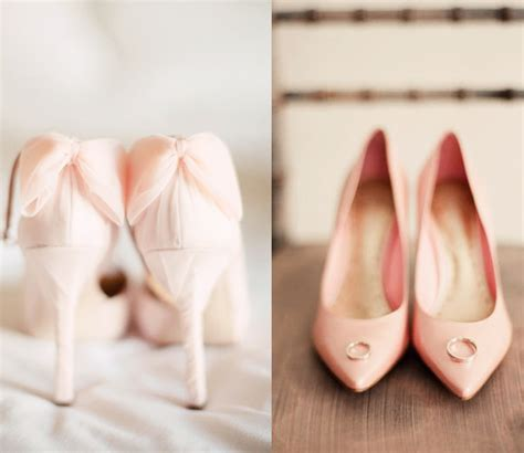 blush colored heels blush pink bridal shoes tulle chantilly wedding
