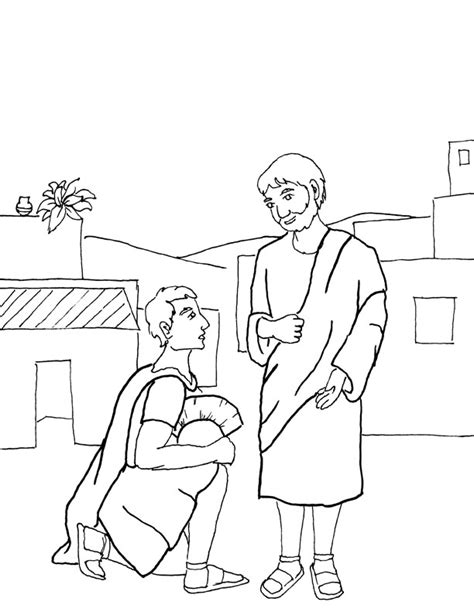 coloring pages jesus heals 10 lepers jesus heals ten lepers coloring page az coloring pages