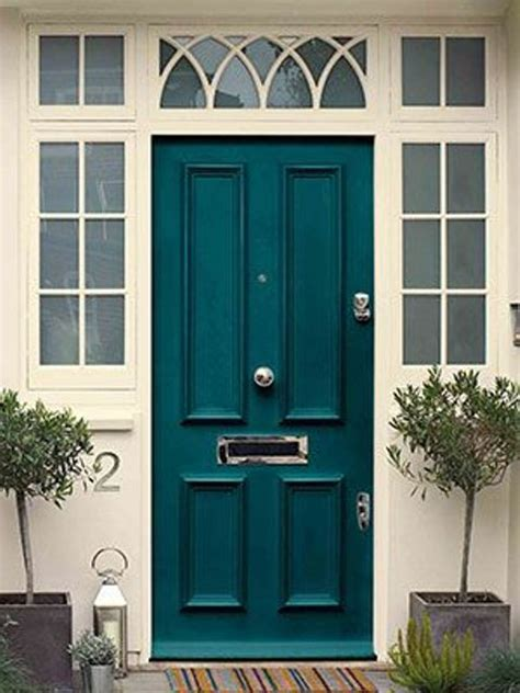 teal front door picture of classic teal front door
