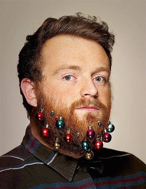 you can now decorate your hipster beard for christmas hipsters can now decorate their beards like christmas