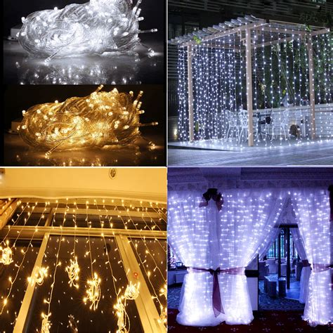 outdoor curtain lights day warm white 3m x 3m 300led in outdoor christmas string