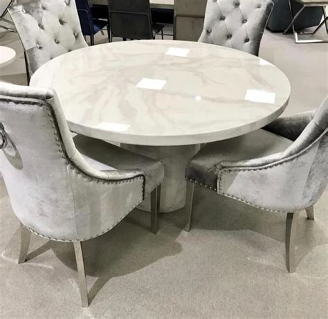 carra bone white marble medium  cm dining table